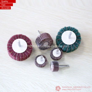 Aluminum Oxide Abrasive Flap Wheel with Shaft pictures & photos
