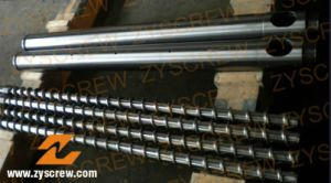 Bimetallic Screw Barrel Manufacturer PE Film Profile Pipe Extrusion Screw Barrel pictures & photos