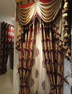 Chenille Jacquard Curtain Decoration Curtain (KS-161) pictures & photos