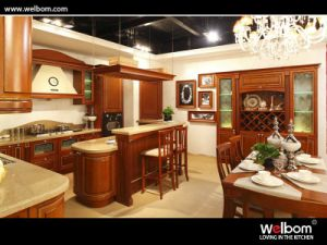 Solid Wood Kitchen Cabinet Wb-13 Oak Kitchen pictures & photos