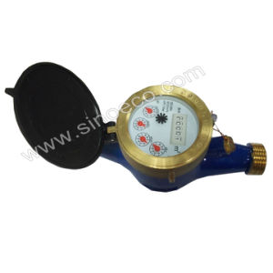 Multi Jet Dry Dial Vane Wheel Brass Water Meter pictures & photos