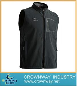 Fashion Men′s Tape Seamed Softshell Gilet pictures & photos