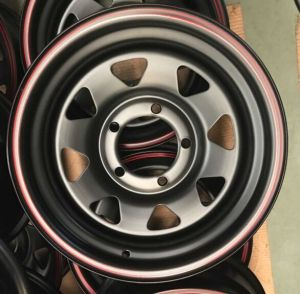 2017 Hot Supply Supply16-6 8-165.1-108.7 8spoke Inch Black /Sliver Steel Car Wheels Rims for Land Cruiser Car (235/85R16 Tyre) pictures & photos