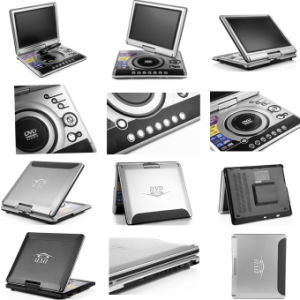 12.1 Inch Portable DVD Player with TV USB Game pictures & photos