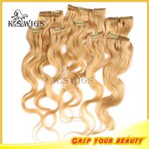 5A Grade Brazilian Virgin Remy Clip on Human Hair Extension pictures & photos