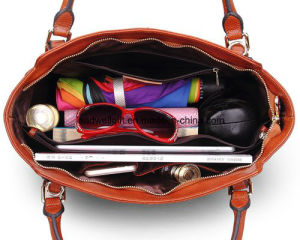 Women Vintage Soft Genuine Leather Tote Shoulder Bag Top-Handle Cross Body Handbags Ladys Purse pictures & photos