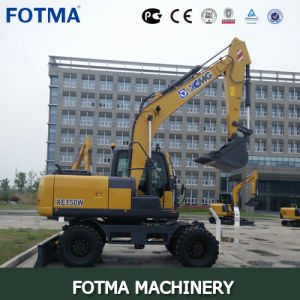 XCMG Xe150W Mini Rubber Tire Wheel Excavator pictures & photos