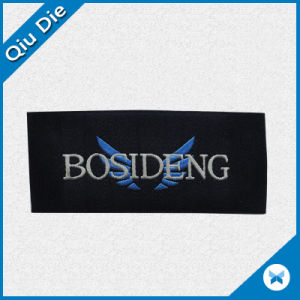 Black Woven Label with Brand Name for Garment Accessories pictures & photos