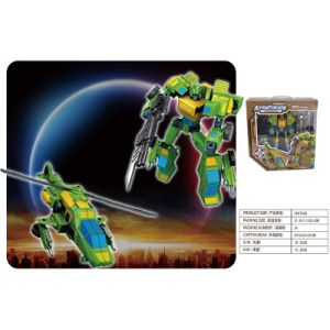 Boy Gift Plastic Model Deformation Robot Speed Car Helicopter Toy