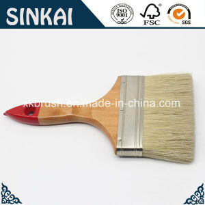 White Bristle Painting Brush with Stainless Steel Ferrule pictures & photos