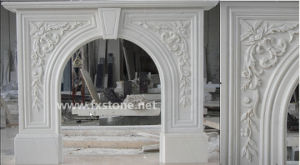 Marble Carved Stone Fireplaces Mantel (FX02) pictures & photos