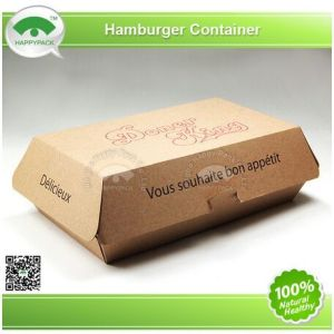 2015happypack Kraft Paper Hamburger Container with Custom Design pictures & photos