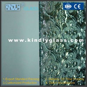 5mm Silver Flora Tempered Glass pictures & photos