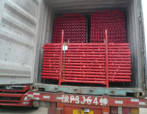 Red Painted Cuplock Scaffolding Ledger / Horizontal High Quality pictures & photos