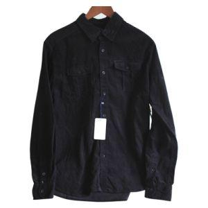 100% Cotton Corduroy Men′s L/S Shirt