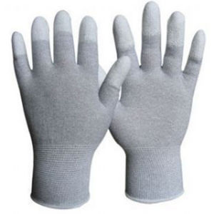 White PU Coated Work Safety Glove Nmsafety Palm Fit PPE pictures & photos