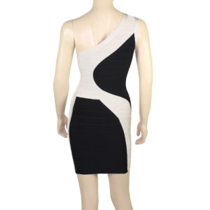 Hot Sale Sloping Shoulder Bodycon Dresses pictures & photos