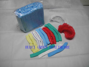 Disposable PP Non-Woven Pleated Mob Cap (HG90906)
