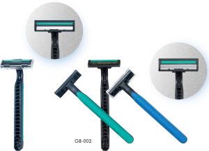 Triple Blade Stainless Steel Rubber Handle Shaving Razors