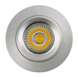 Lathe Aluminum GU10 MR16 Round Fixed Recessed LED Spotlight (LT2104) pictures & photos