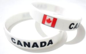 Promotional Silicone Bracelet with Canada Flag Printing pictures & photos