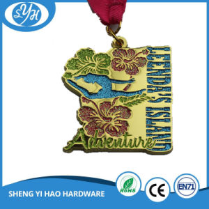 Gold Metal Medal with Customized Engraving 3D Logo pictures & photos