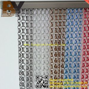 Decorative Metal Hook Sliding Door Curtain pictures & photos