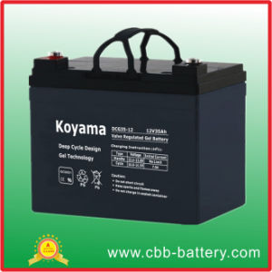 35ah 12V Sealed Deep Cycle Gel Battery for Wheelchairs pictures & photos