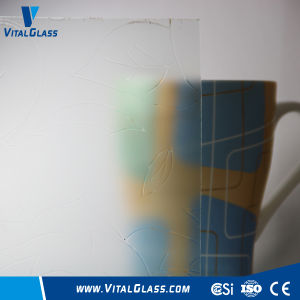 4-10mm Acid Etched Glass Figured/Patterned Pattern Glass pictures & photos