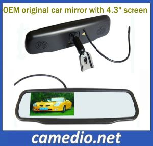"4.3"" Original Car Rearview Mirror LCD with OEM Bracket for Different Cars pictures & photos"