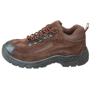 Nmsafety Suede Leather PU Sole Safety Working Shoes pictures & photos