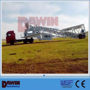 Trailer Mounted Mobile Concrete Mixing Plant From 25 Cbm to 90 Cbm pictures & photos