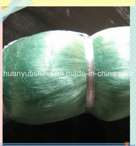 Double Knot Fishing Net with Light Green Color