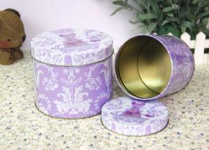 Round Metal Tin Storage Box pictures & photos