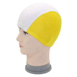 Superior Polyester Cloth Fabric Bathing Cap Swimming Caps Swimming Hats for Water Sports pictures & photos