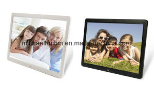 17inch LCD 1080P HD Screen Wall-Mounted Advertisement Video Player (HB-DPF1702) pictures & photos