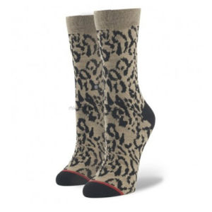 Fashion Women Cotton Socks with Leopard (WS-69)
