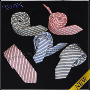 Men′s High Quality Cotton and Linen Woven Tie (MMT-83933)