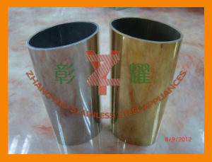 Hot Sale Top Quality Stainless Steel Oval Tube/ Elliptical Tubing pictures & photos