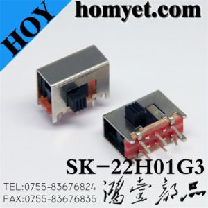 High Quality 3pin DIP Slide Switch/Micro Switch/Toggle Switch (SK-22H01G3) pictures & photos