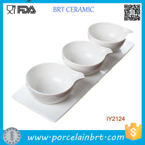 Wholesale Household Ceramic Set Soup Sauce Bowl with Tray pictures & photos