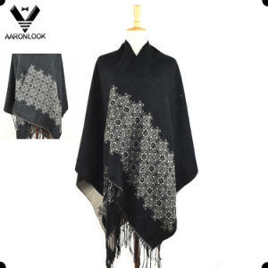 2017 New Custom Design Jacquard Cashmere Lady Knit Shawls pictures & photos