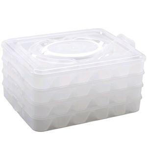 4 Layer Kitchen Dumpling Holder Box Covered Dumpling Dispenser with Handle for Refrigerator 18-Dumpling Capacity pictures & photos