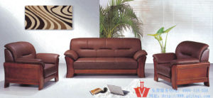 Executive Chinese Style Office Leather Sofa (WP5-3009)