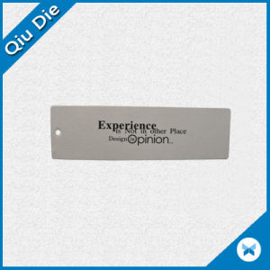 Customed Make Simple White Swing Tag with Brand Name Printed pictures & photos