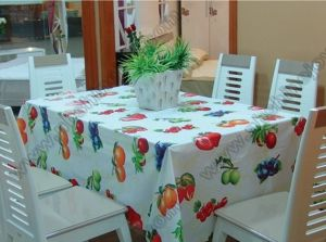 PEVA/PVC Waterproof Table Cloth pictures & photos