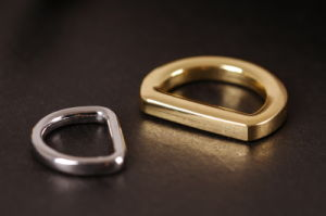 New Design Shiny Sliver Color Handbag Bulk Metal D Ring pictures & photos