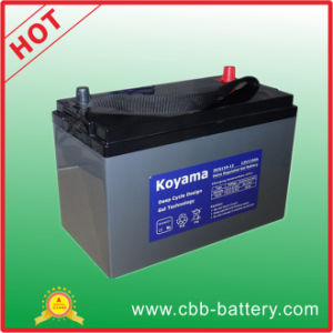 110ah 12V Deep Cycle Gel Battery for Renewable Energy pictures & photos