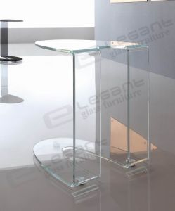Small Side Table, Bent Glass Coffee Table S037X pictures & photos