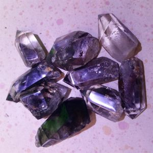 Natural Green Phantom Crystal Points pictures & photos